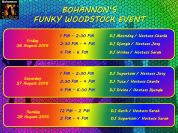 Funky Woodstock Schedule